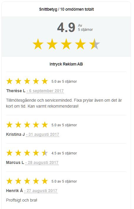 Rich Snippet recensioner